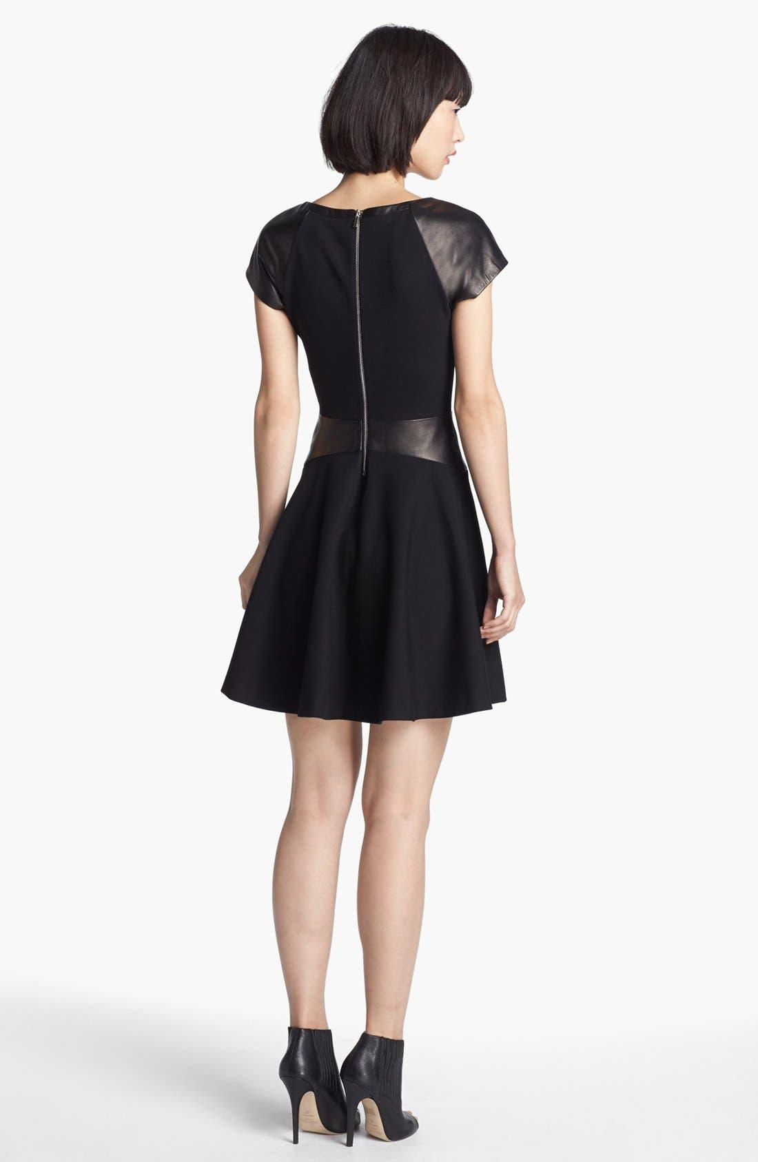 Alternate Image 2  - Diane von Furstenberg 'Delyse' Leather Trim Dress