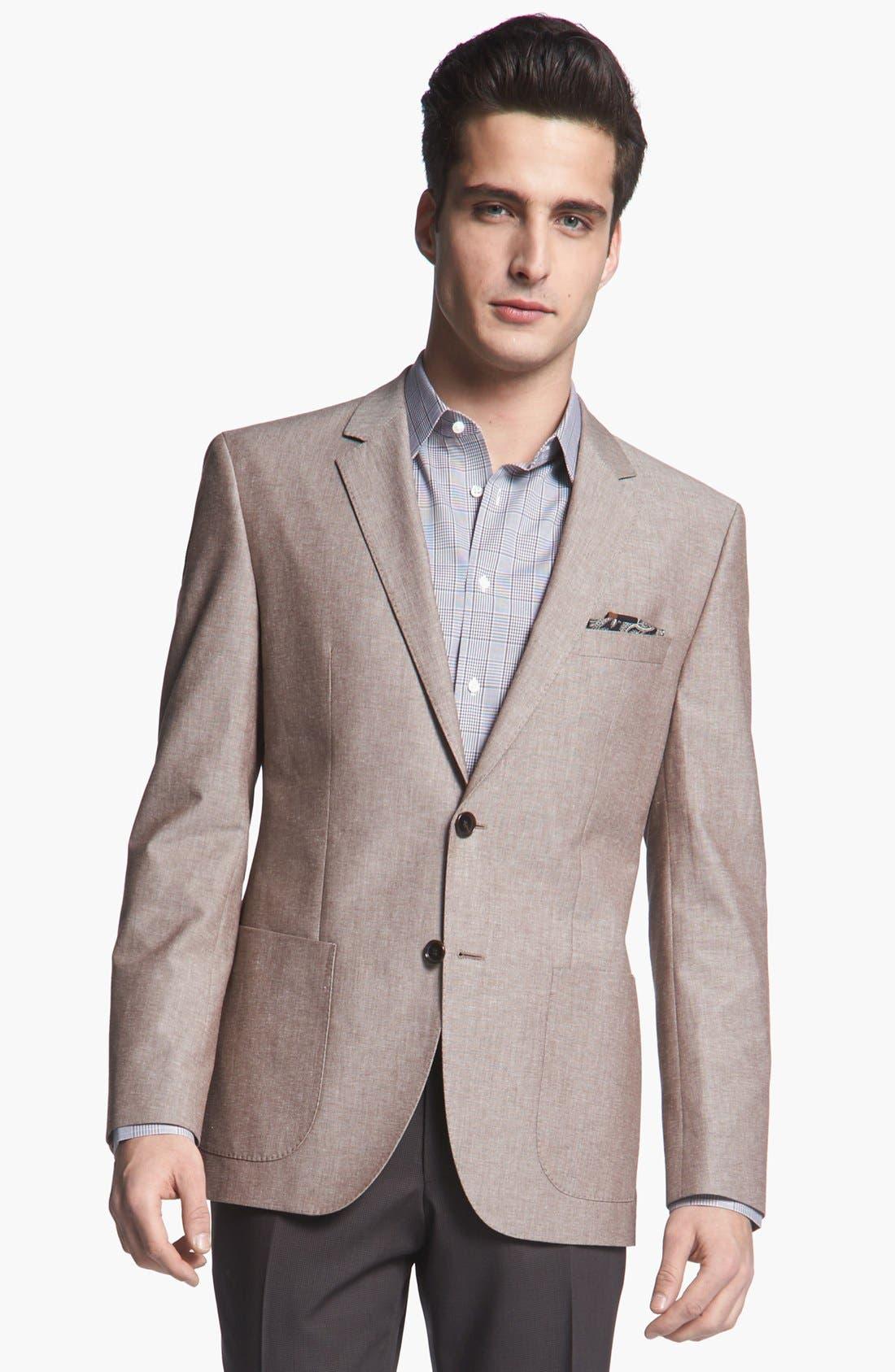 Alternate Image 1 Selected - BOSS HUGO BOSS 'Jesse' Trim Fit Cotton Blazer