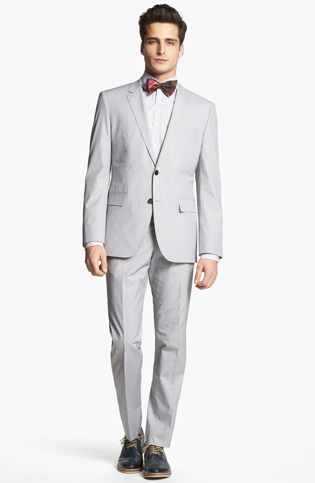 Alternate Image 1 Selected - BOSS HUGO BOSS 'James/Sharp' Trim Fit Stripe Suit