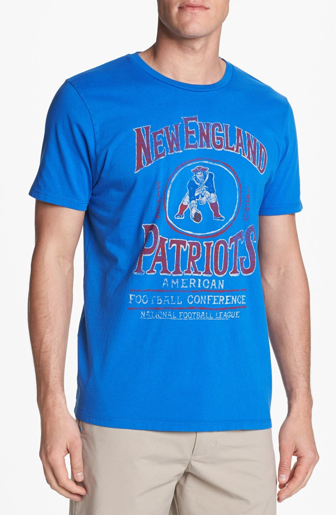 Alternate Image 1 Selected - Junk Food 'New England Patriots - Kick Off' Graphic T-Shirt.