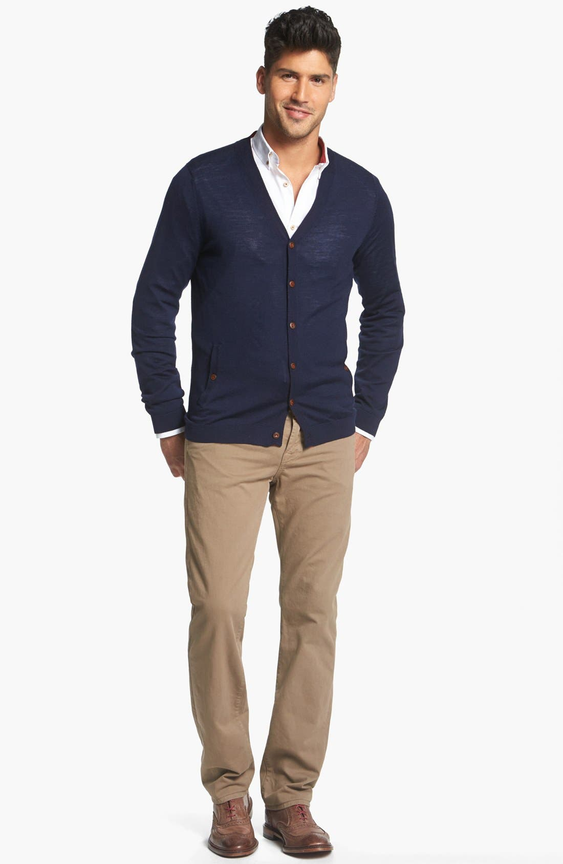 Alternate Image 1 Selected - Ted Baker London Cardigan & 7 For All Mankind® Jeans