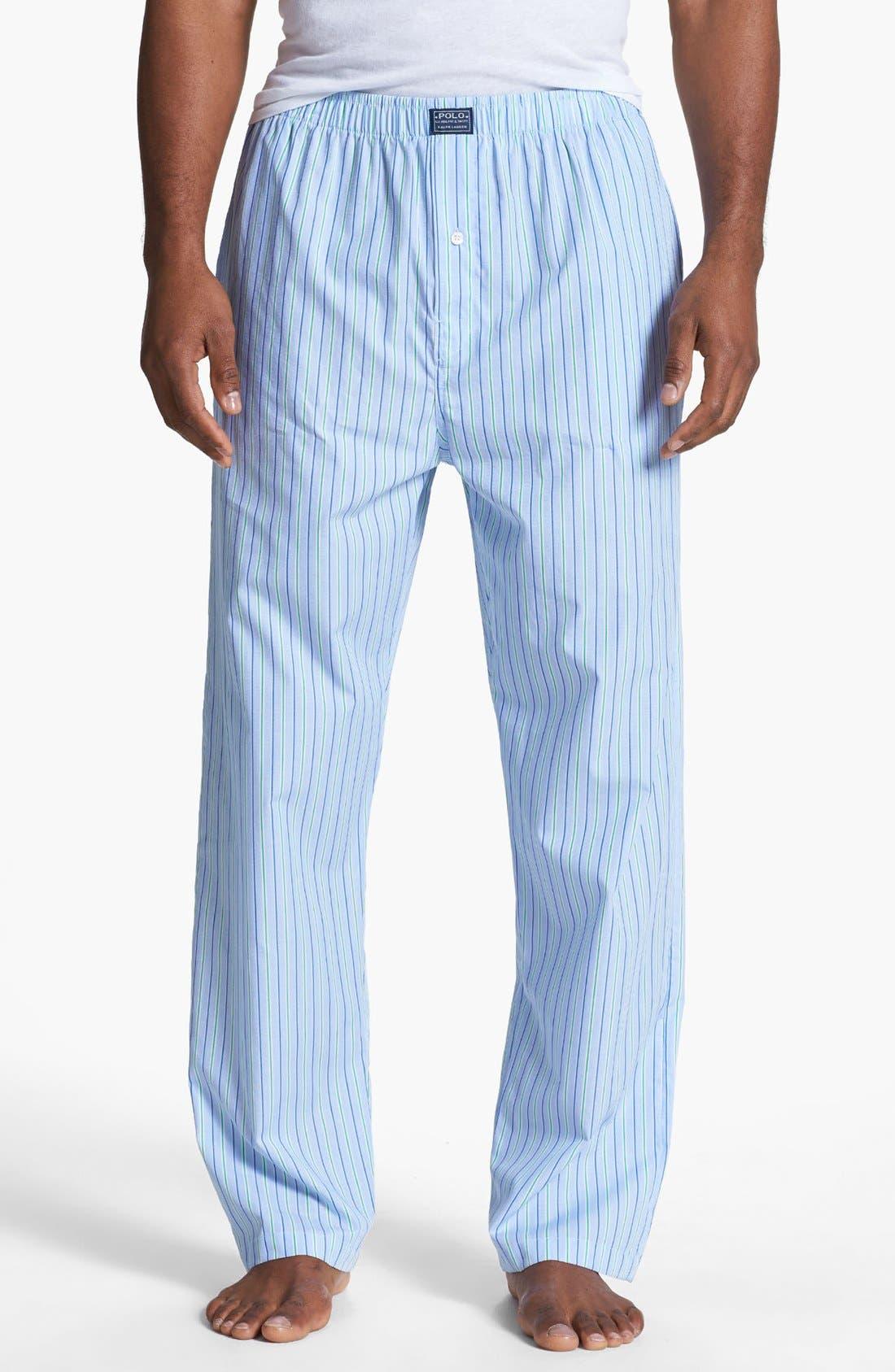 Cotton Pajama Pants,                         Main,                         color, Bari Stripe