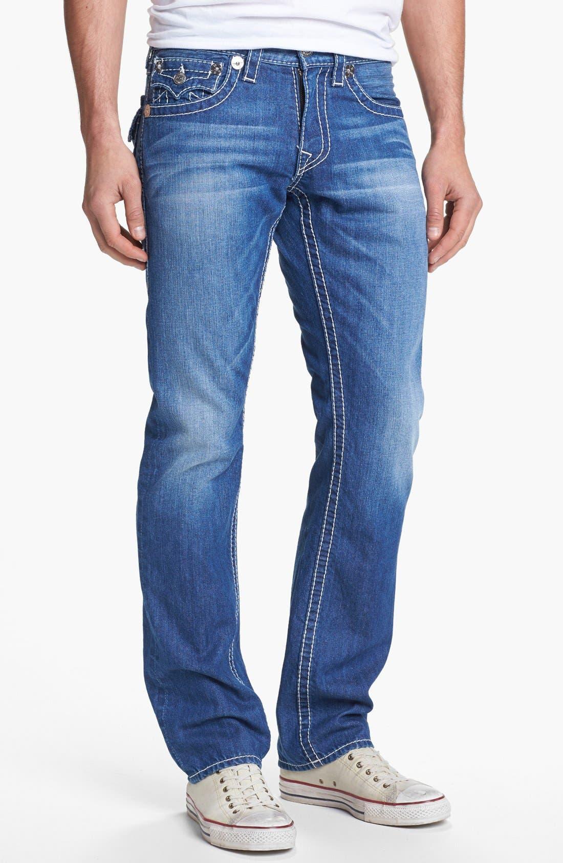 Alternate Image 2  - True Religion Brand Jeans 'Ricky' Straight Leg Jeans (Voyager)