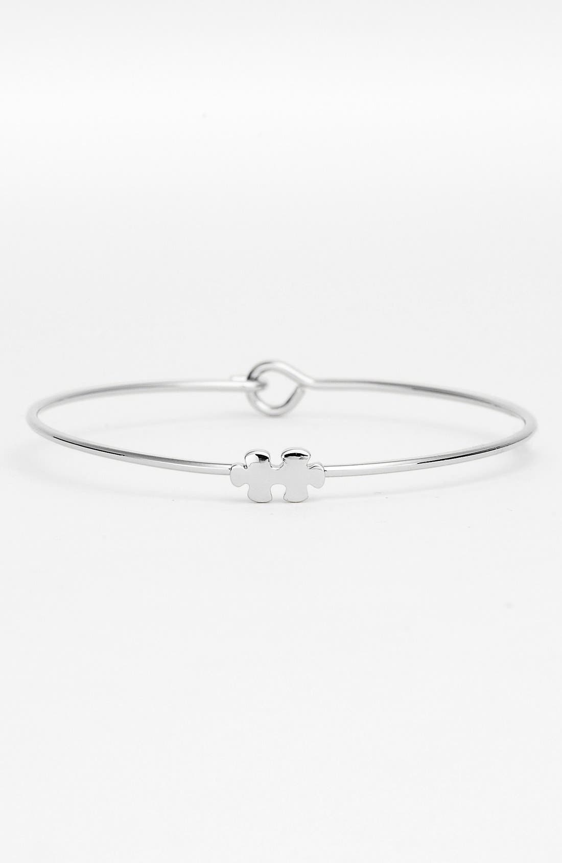 Alternate Image 1 Selected - Ariella Collection Puzzle Piece Station Bangle Bracelet (Nordstrom Exclusive)
