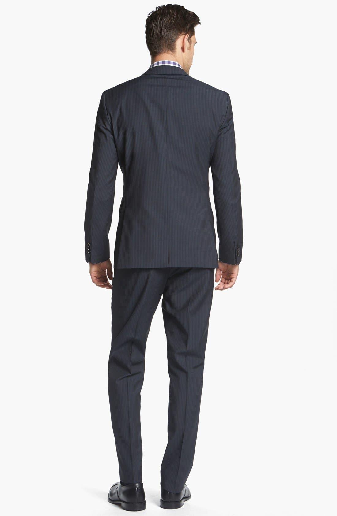 Alternate Image 2  - BOSS Black Suit & Calibrate Dress Shirt