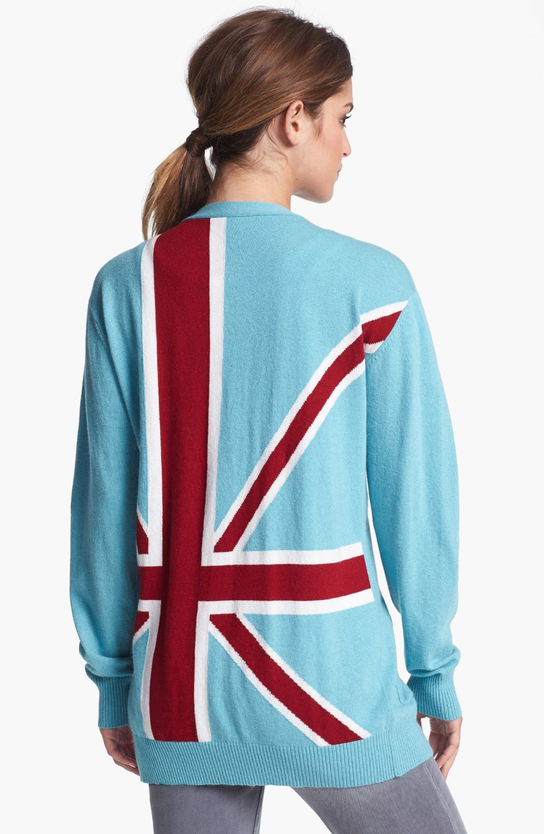 Main Image - Press 'British Intarsia' Snap Front Cardigan