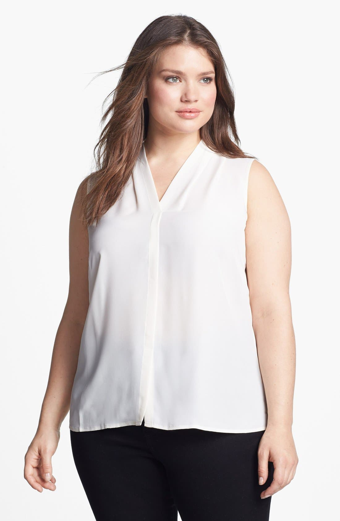 Alternate Image 1 Selected - Nic + Zoe 'Day to Night' Sleeveless Blouse (Plus Size)