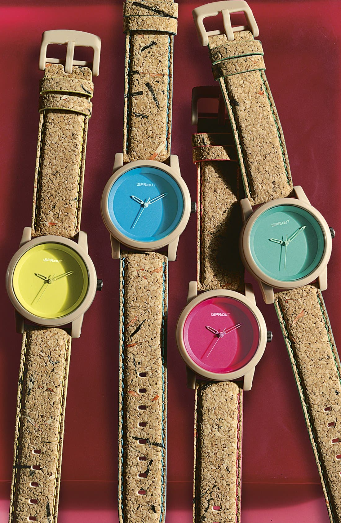 Alternate Image 2  - SPROUT™ Watches Color Dial Cork Strap Watch, 38mm