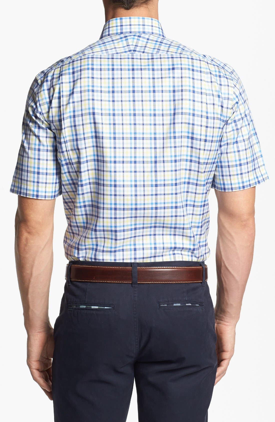 Alternate Image 2  - Nordstrom Smartcare™ Traditional Fit Short Sleeve Dress Shirt