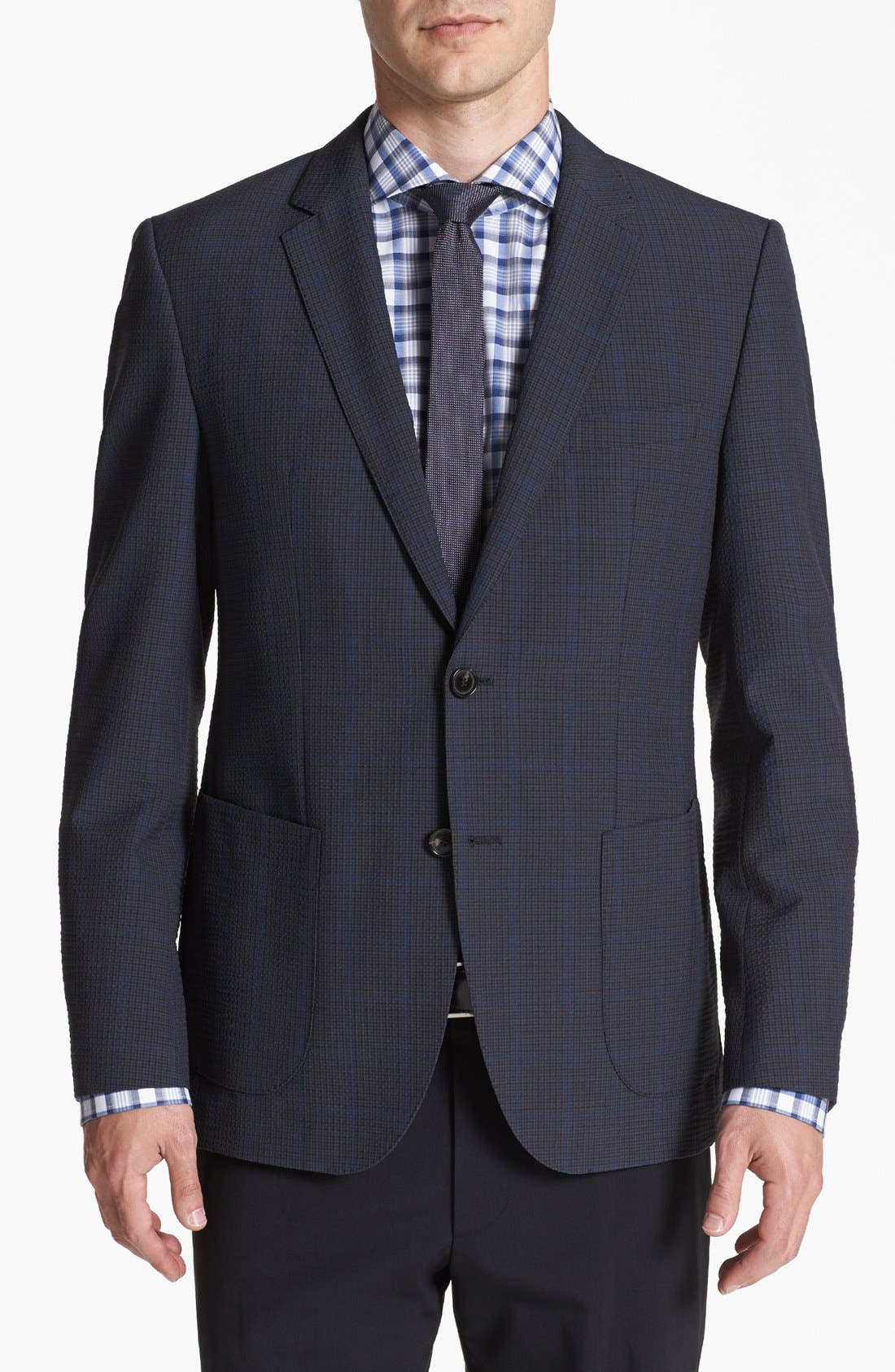 Main Image - BOSS HUGO BOSS 'Jesse' Trim Fit Plaid Sportcoat