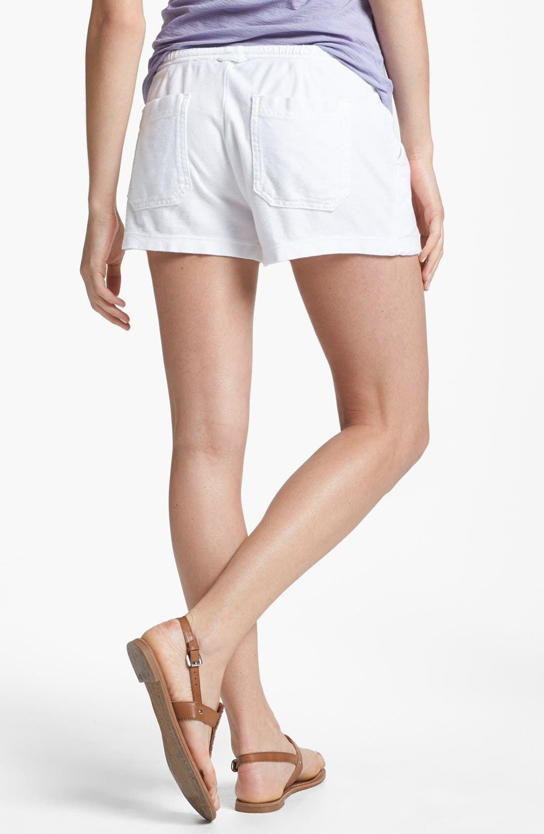Pintucked Twill Shorts,                             Alternate thumbnail 2, color,                             White