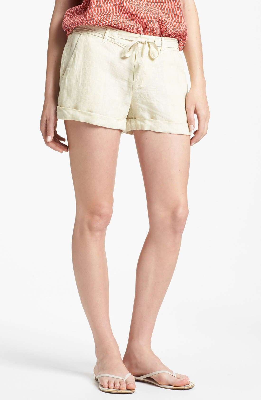 'Jewell' Linen Shorts,                         Main,                         color, Sand