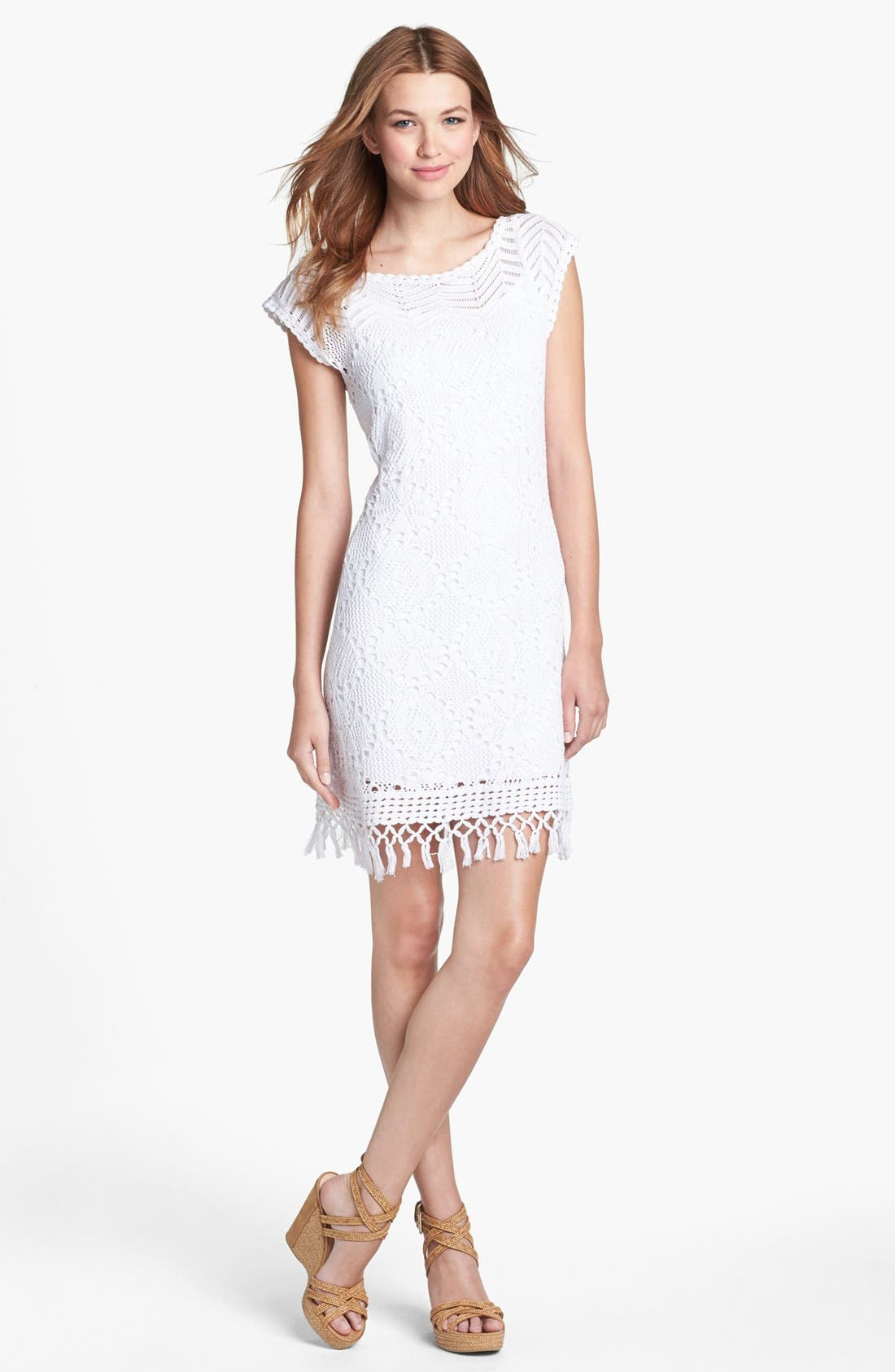 Main Image - Lilly Pulitzer® 'Adabelle' Crochet Sweater Dress