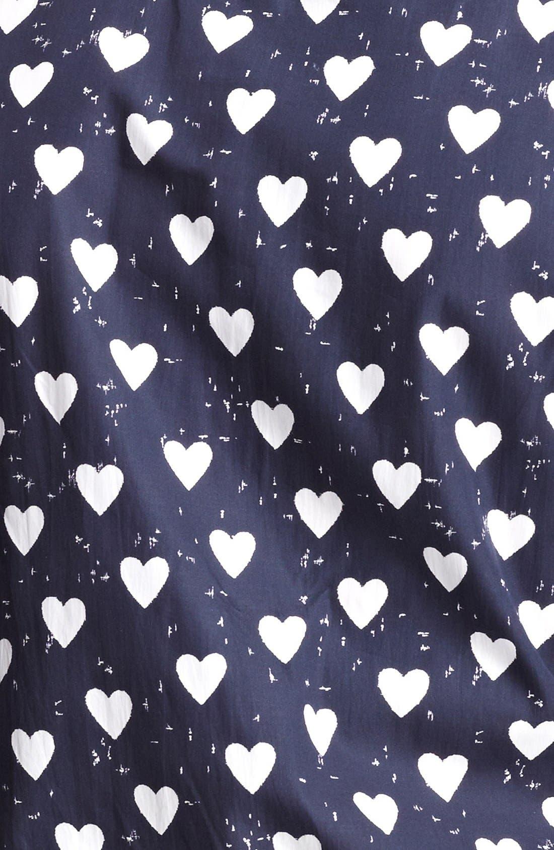 Alternate Image 3  - Burberry Prorsum Heart Print Poplin Sport Shirt