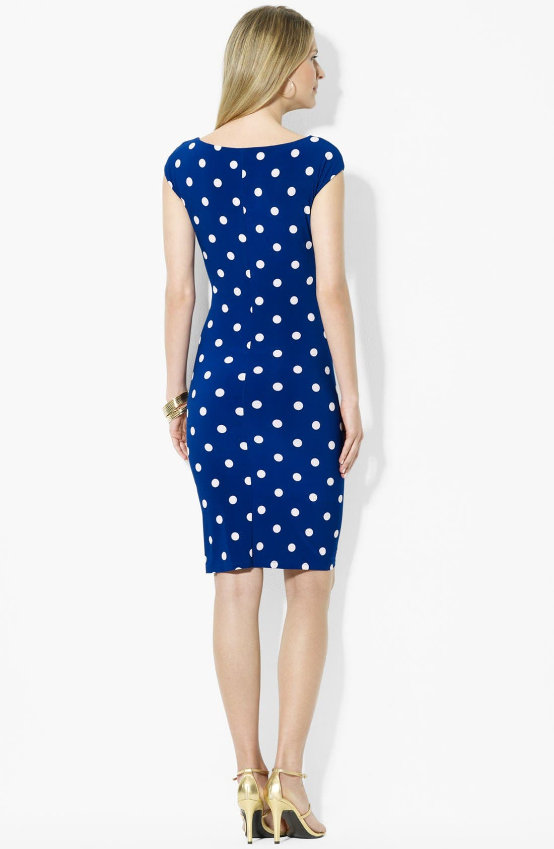Alternate Image 2  - Lauren Ralph Lauren Polka Dot Jersey Dress
