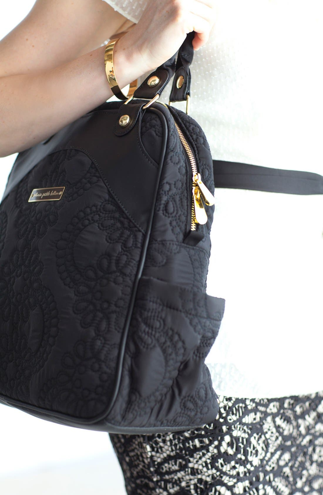 'Embossed Sashay' Diaper Bag,                             Alternate thumbnail 5, color,                             Central Park North Stop