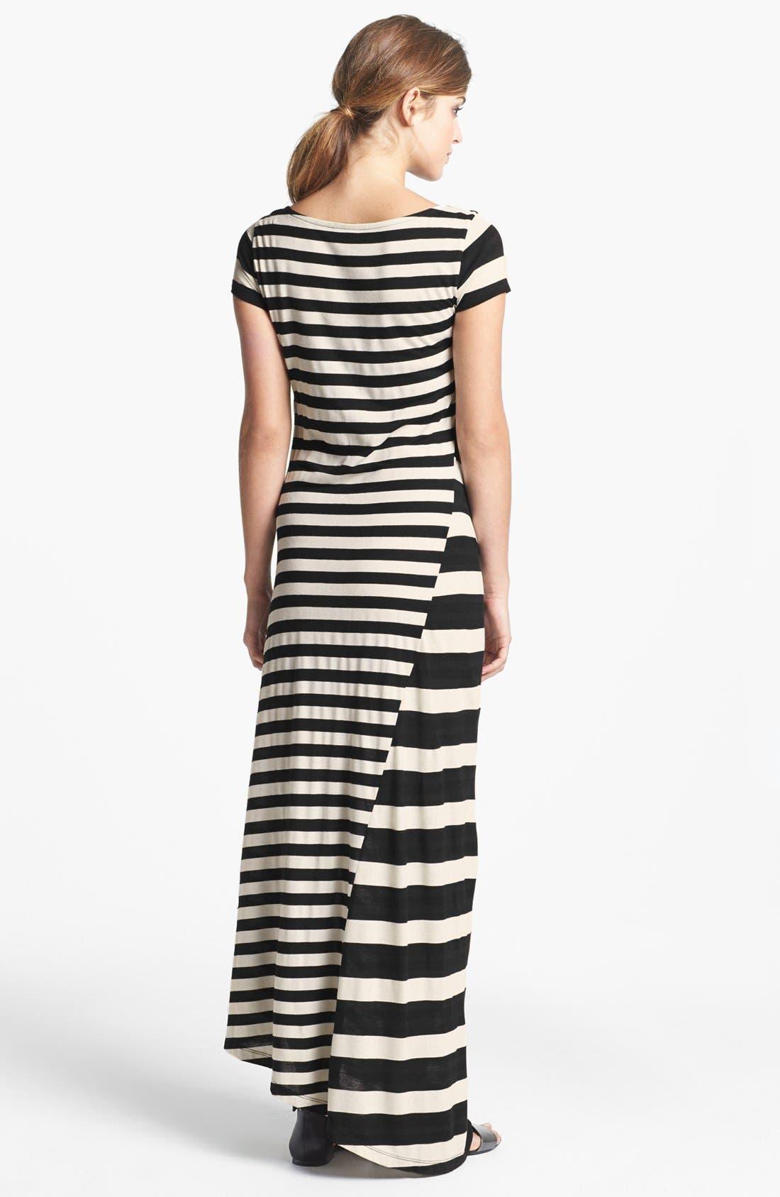 Alternate Image 2  - DKNYC Stripe Maxi Dress