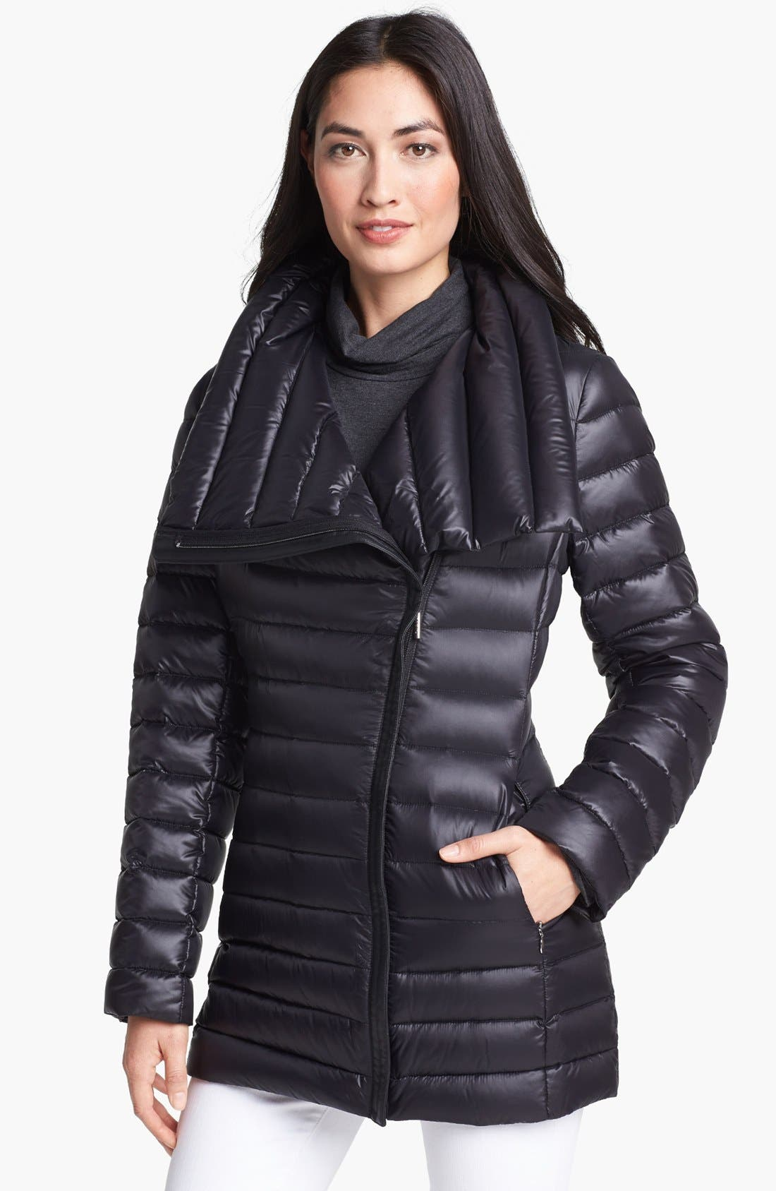 Alternate Image 1 Selected - Calvin Klein Asymmetrical Lightweight Down Jacket