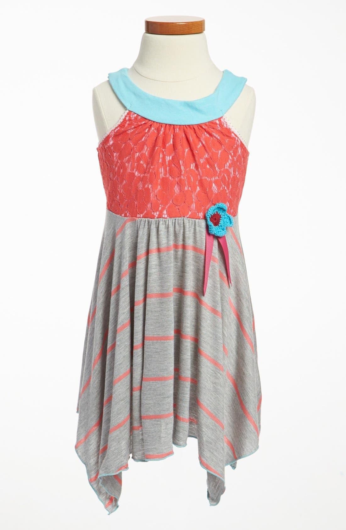 Alternate Image 1 Selected - Ella and Lulu Tank Dress (Toddler Girls)