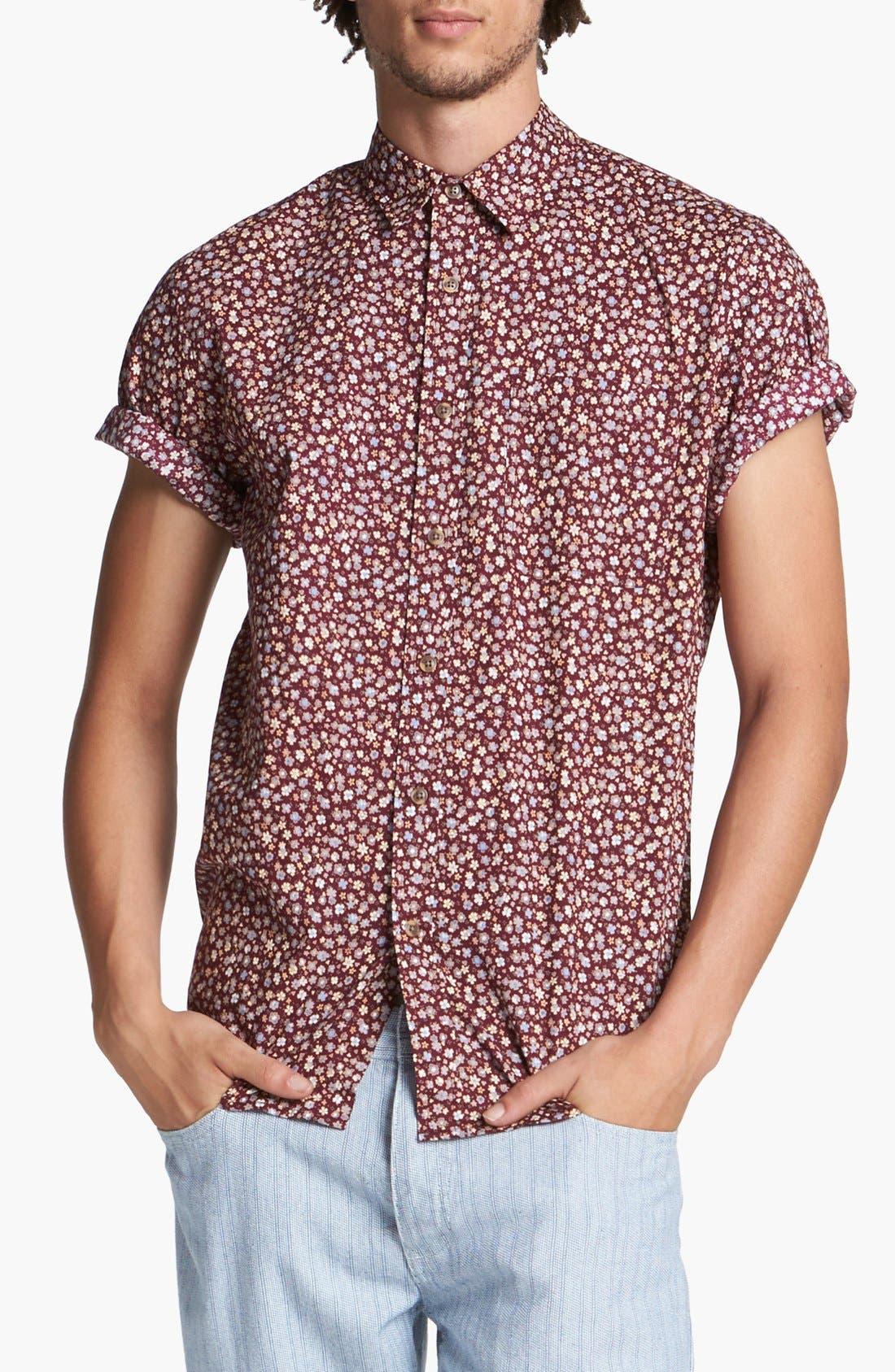 Alternate Image 1 Selected - Topman Floral Print Shirt