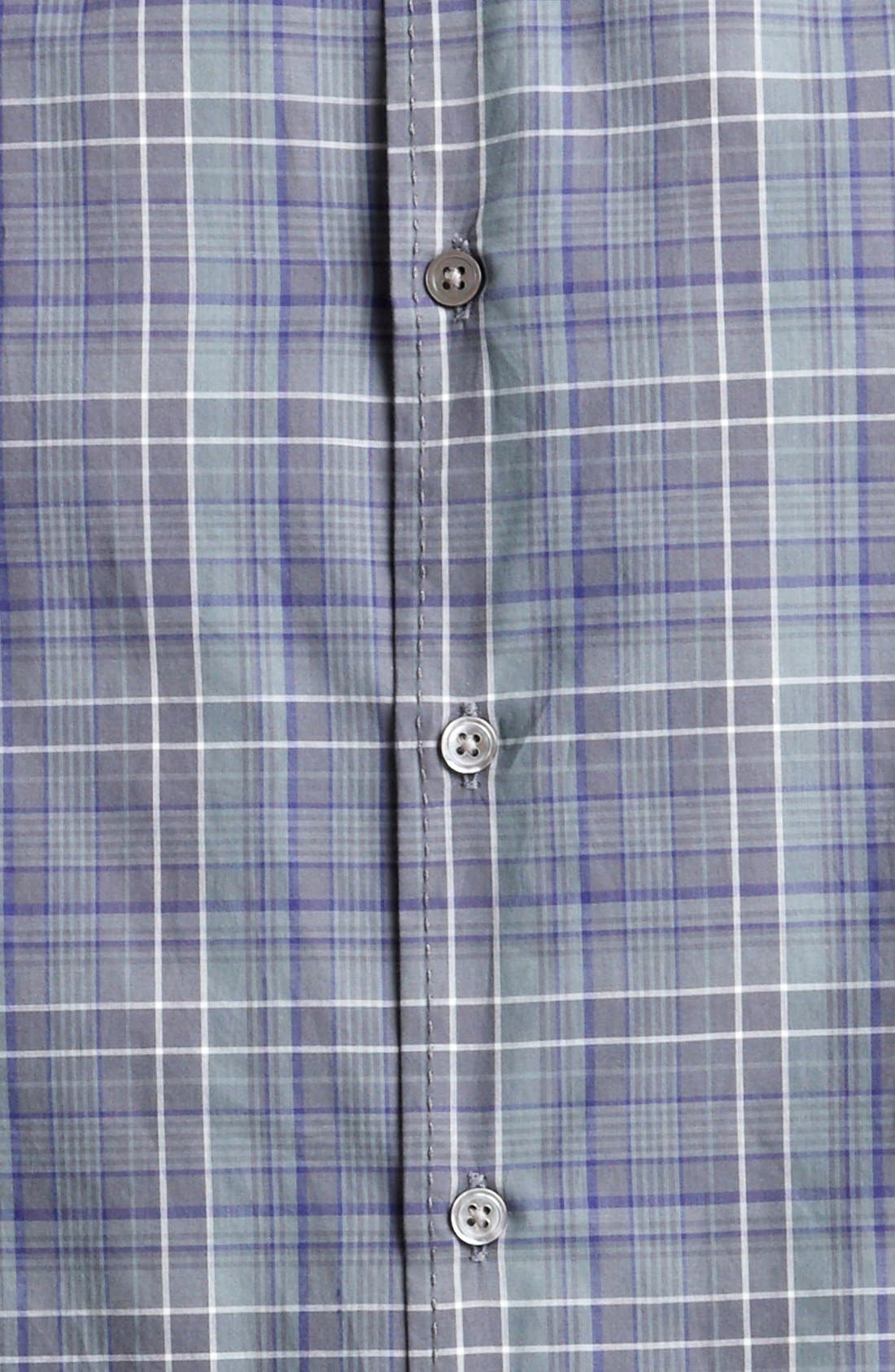 Alternate Image 3  - John Varvatos Collection Classic Fit Plaid Sport Shirt