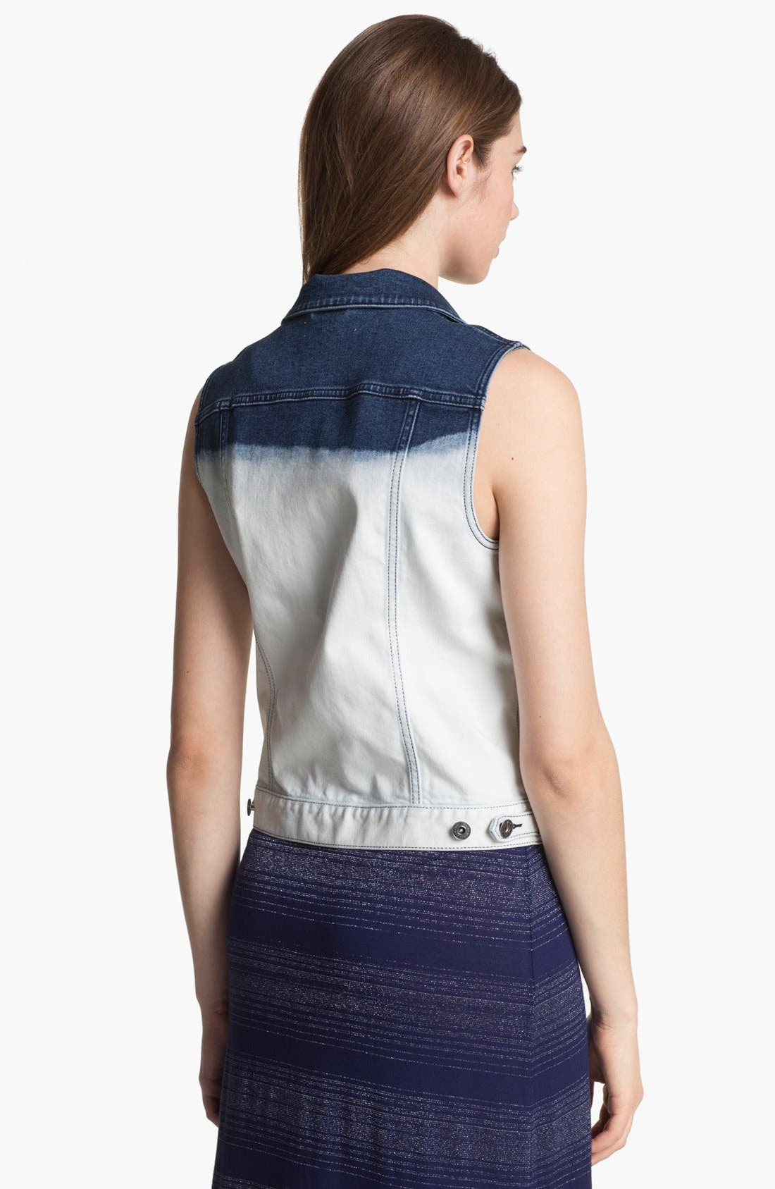 Alternate Image 2  - Two by Vince Camuto Dip Dye Denim Vest (Online Only)