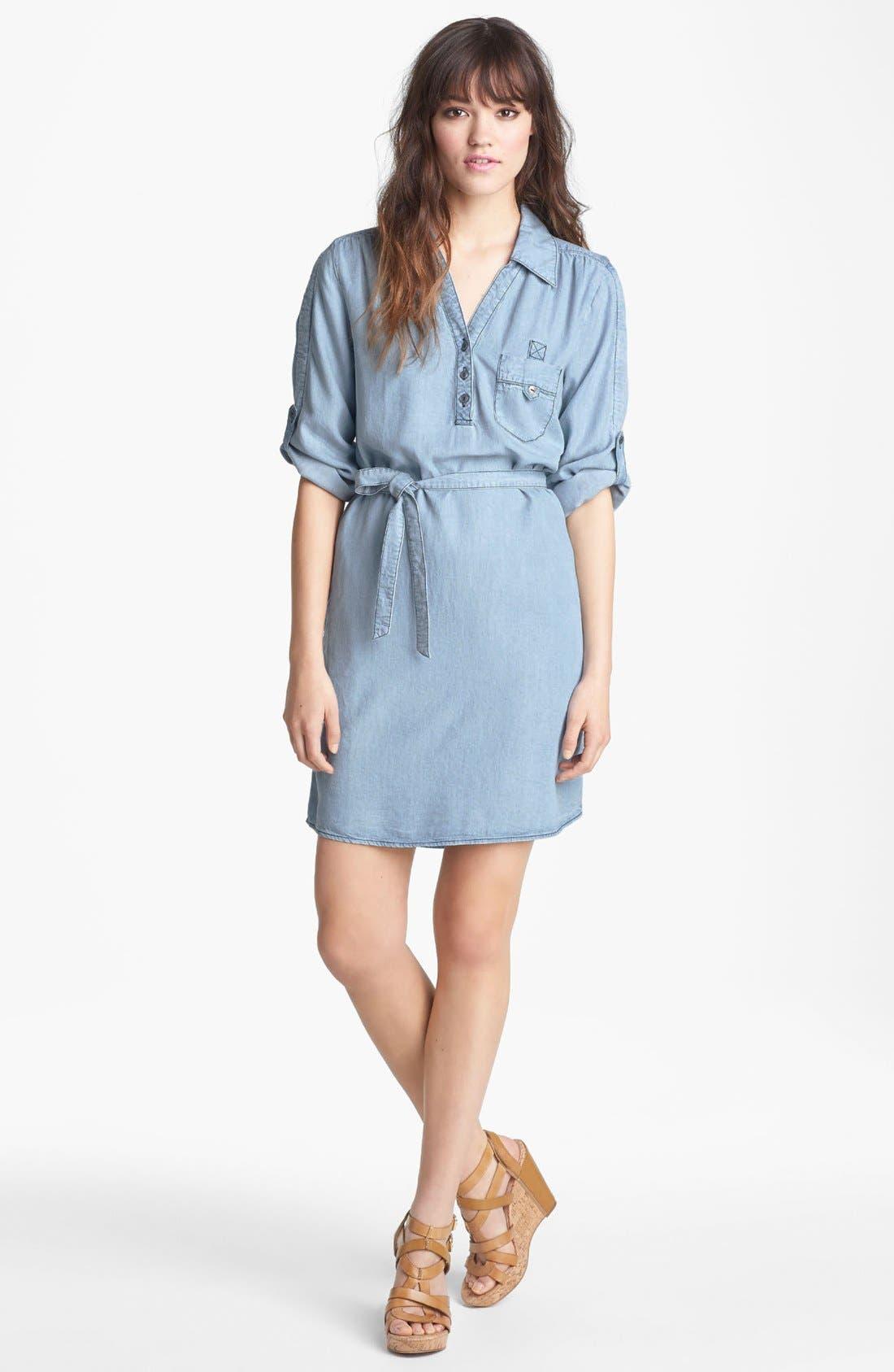 Main Image - VELVET HEART 'Audrey' Chambray Shirtdress