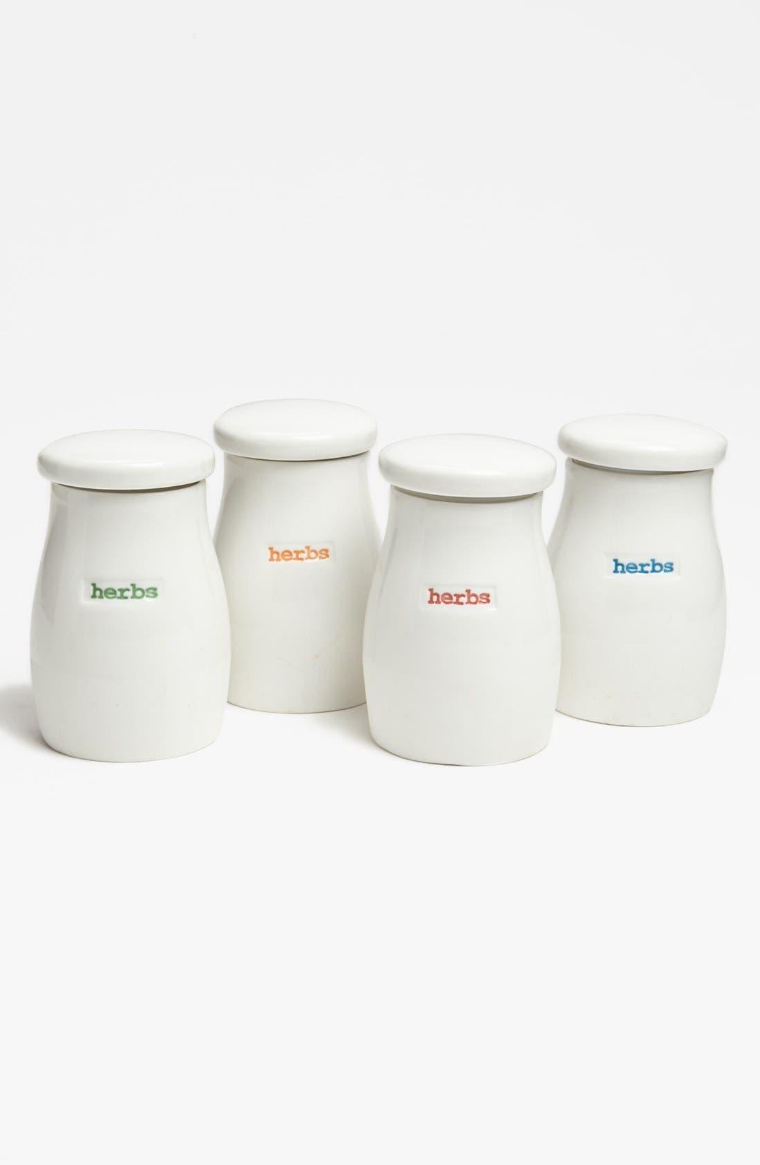 Main Image - 'Word Range' Porcelain Herb Jars (Set of 4)