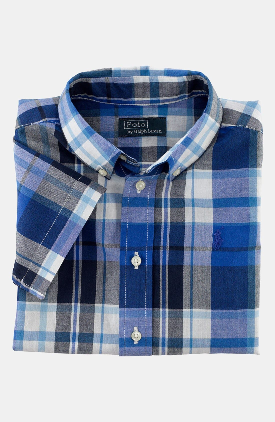 Alternate Image 1 Selected - Ralph Lauren Plaid Shirt (Toddler Boys)