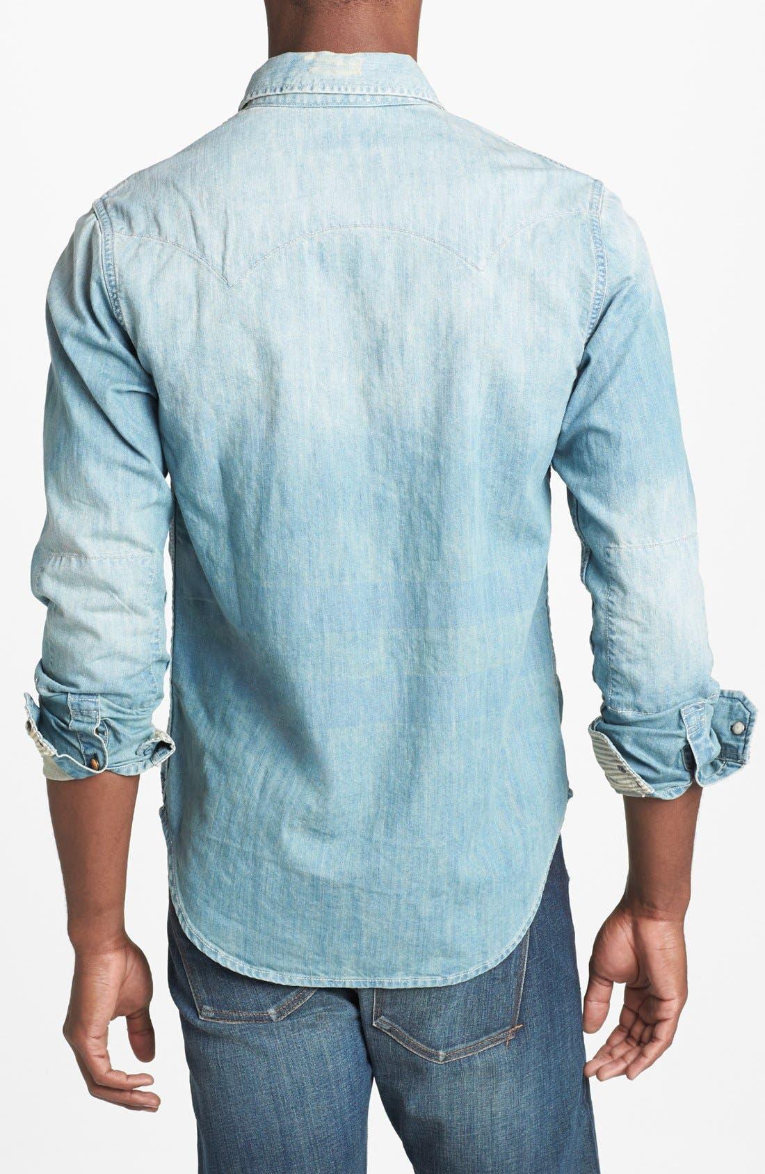 Alternate Image 2  - Scotch & Soda Western Denim Shirt