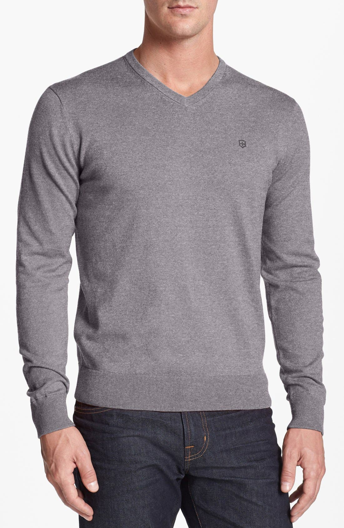 Alternate Image 1 Selected - Victorinox Swiss Army® 'Signature' Tailored Fit V-Neck Sweater (Online Only)