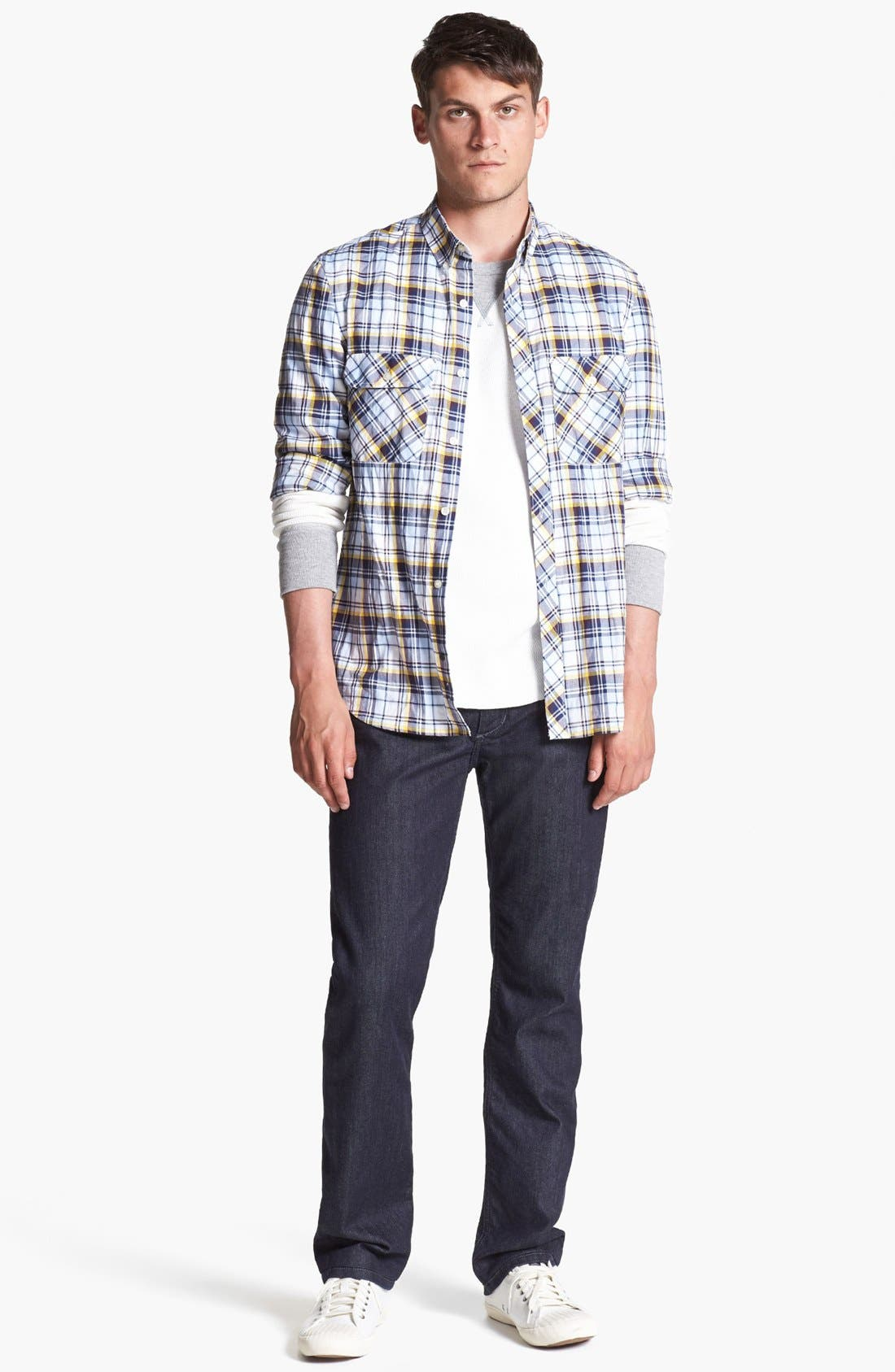 Alternate Image 4  - French Connection 'Thames Valley' Slim Fit Sport Shirt