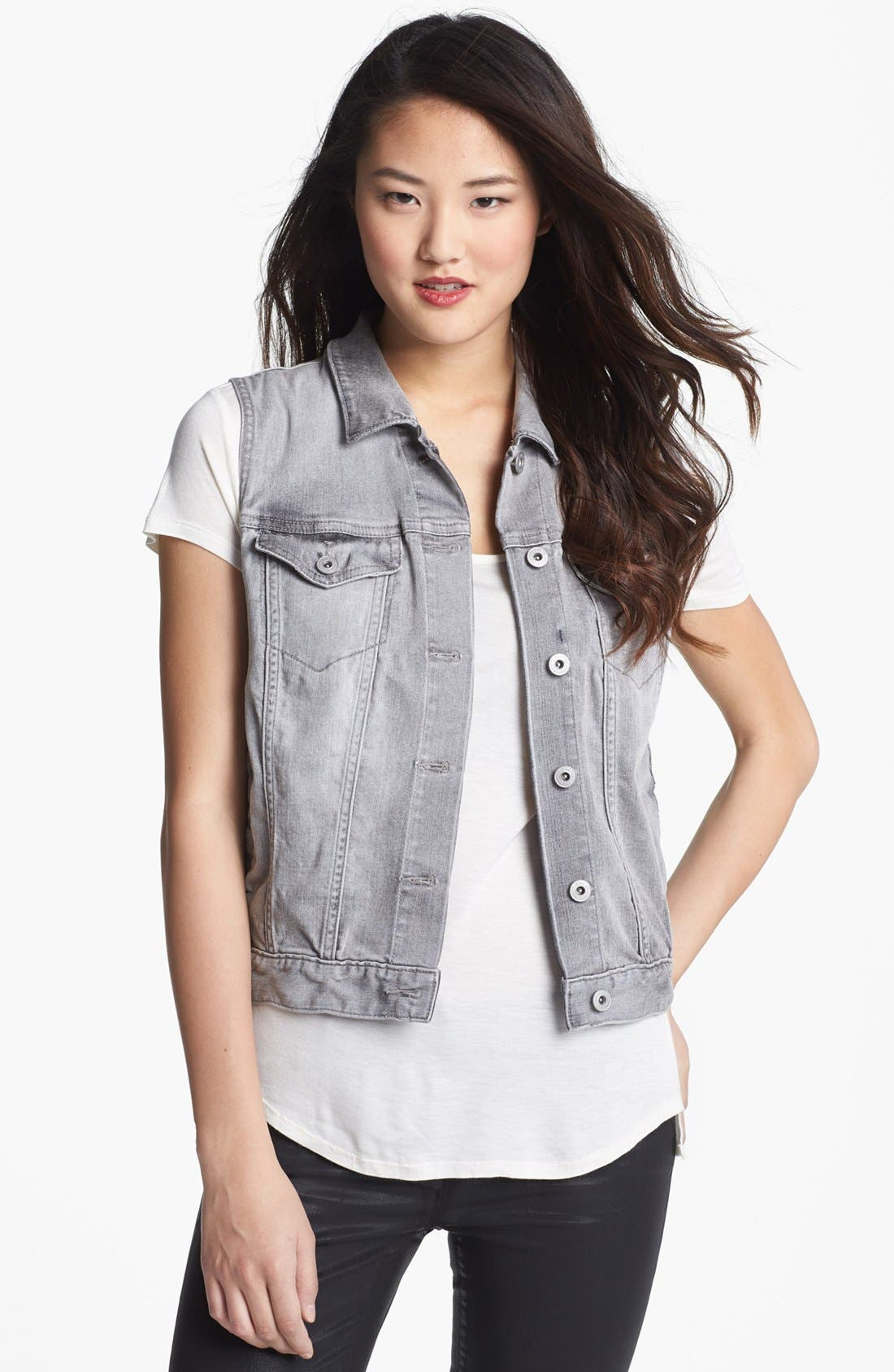 Alternate Image 1 Selected - Two by Vince Camuto Denim Vest