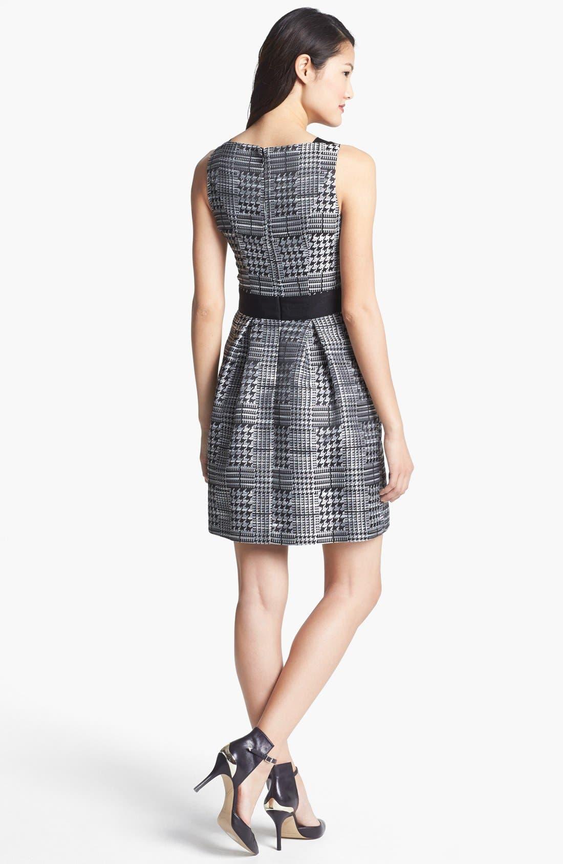 Alternate Image 2  - Jessica Simpson Print Jacquard Fit & Flare Dress (Online Only)