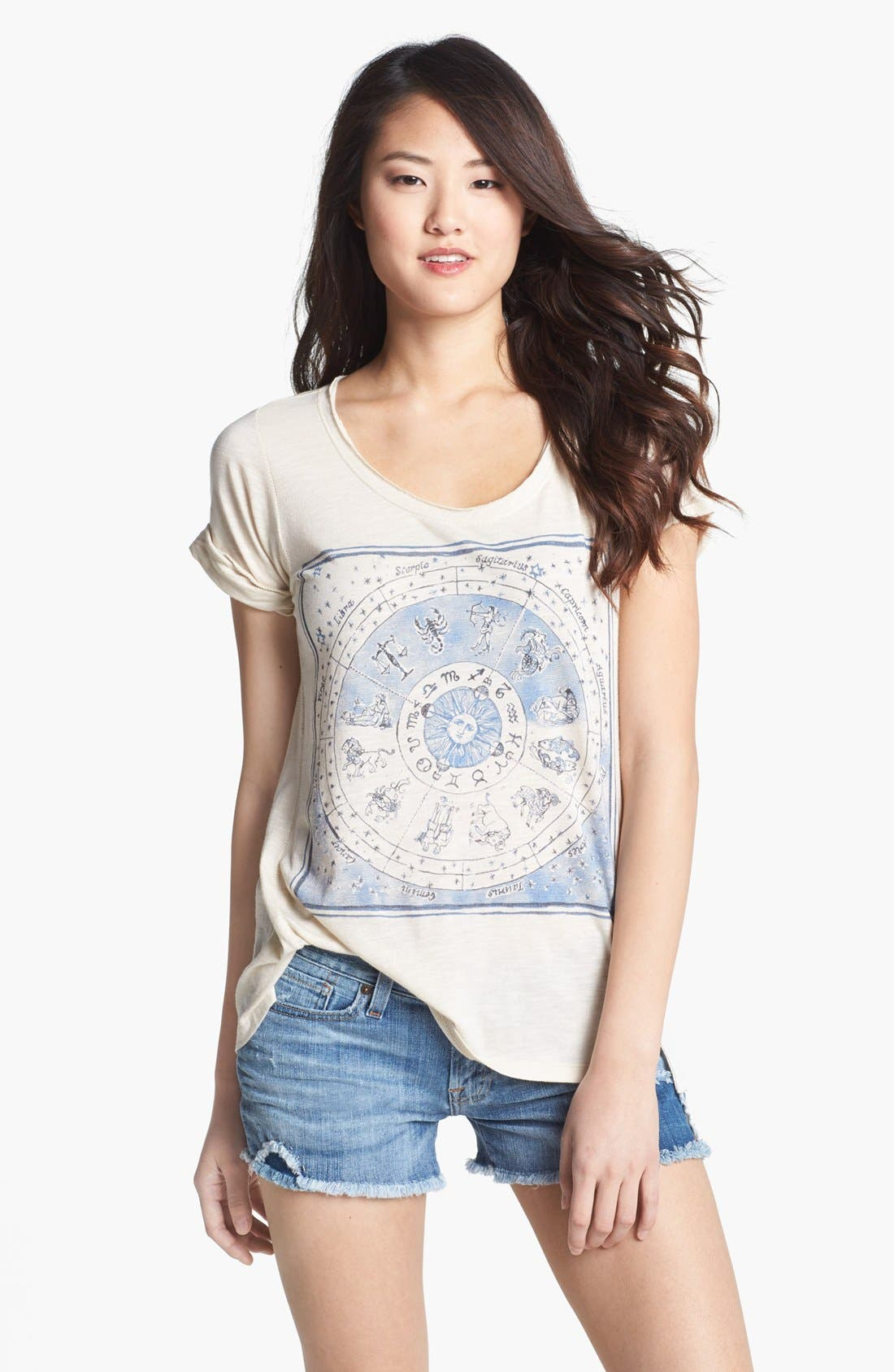 Alternate Image 1 Selected - Lucky Brand Zodiac Graphic Tee