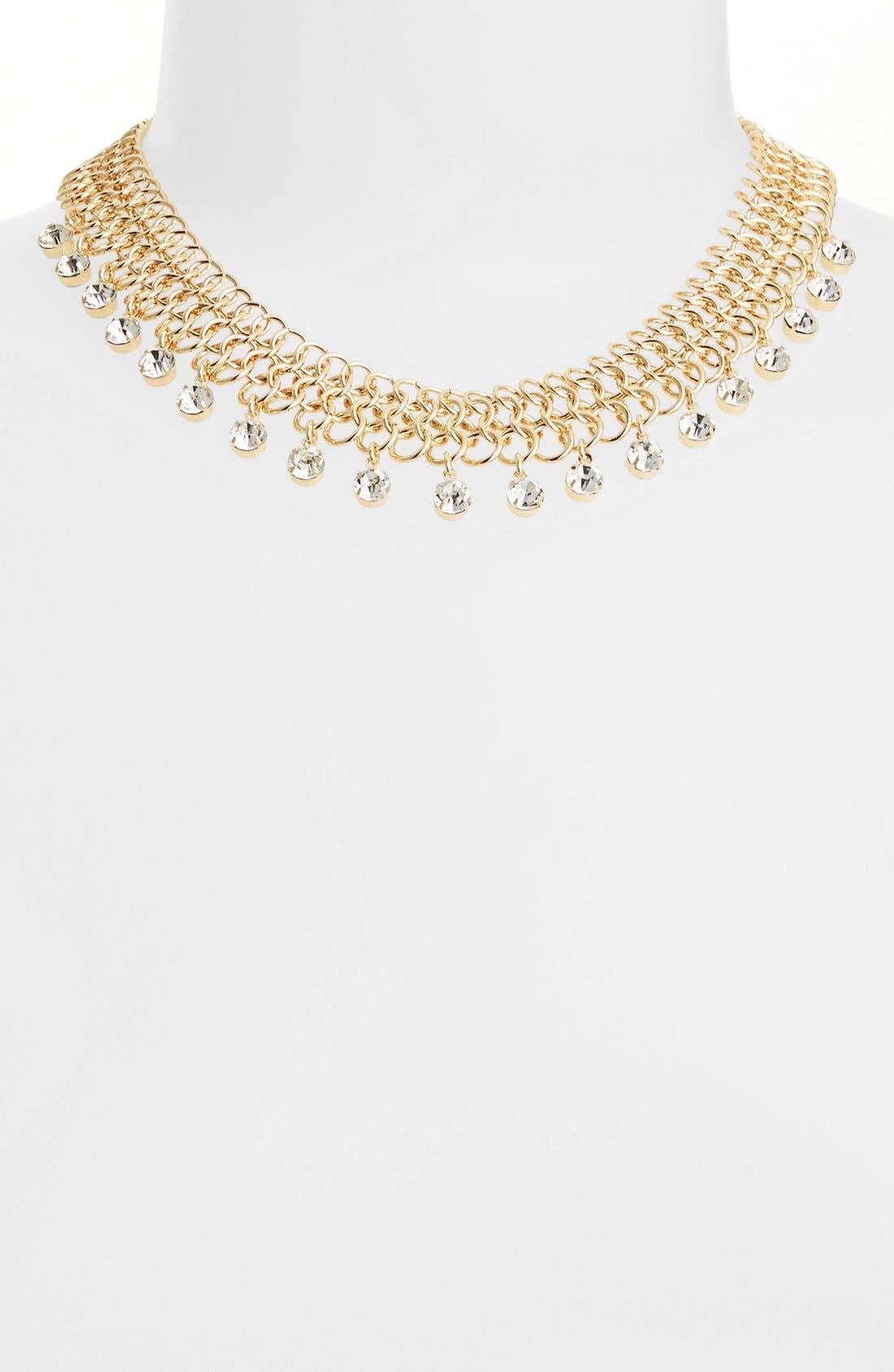 Alternate Image 2  - Anne Klein Mesh Collar Necklace