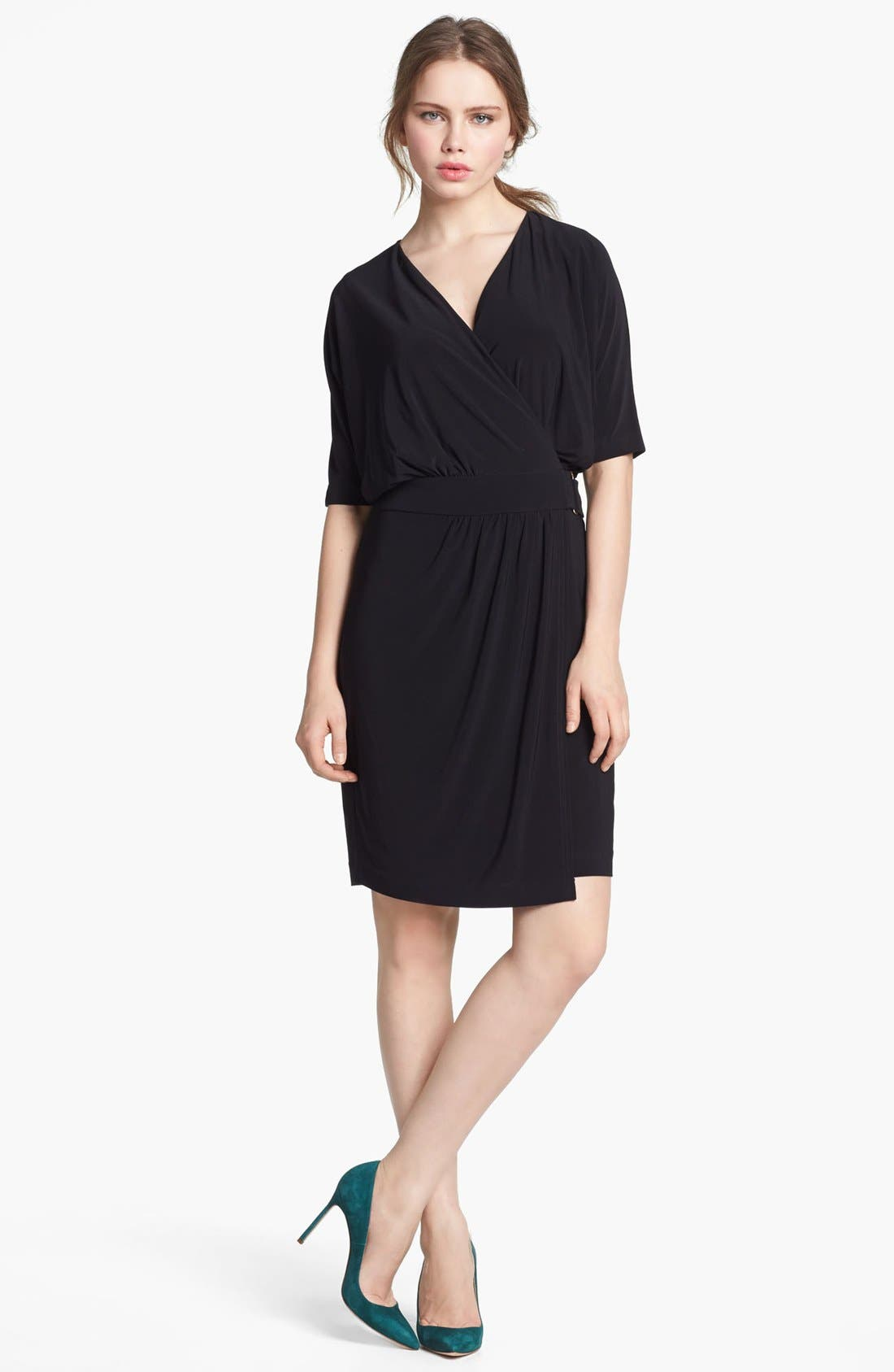 Alternate Image 1 Selected - Vince Camuto Dolman Sleeve Faux Wrap Dress (Online Only)
