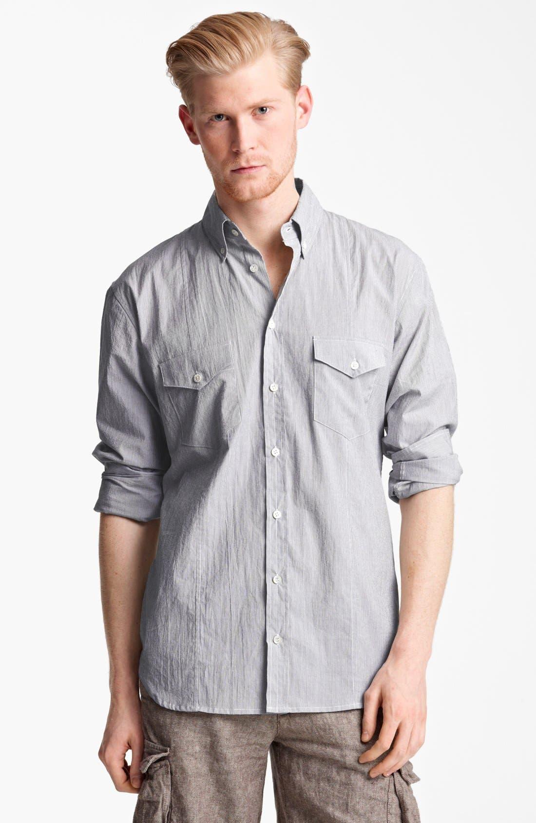 Alternate Image 1 Selected - Billy Reid 'Sullivan' Stripe Sport Shirt