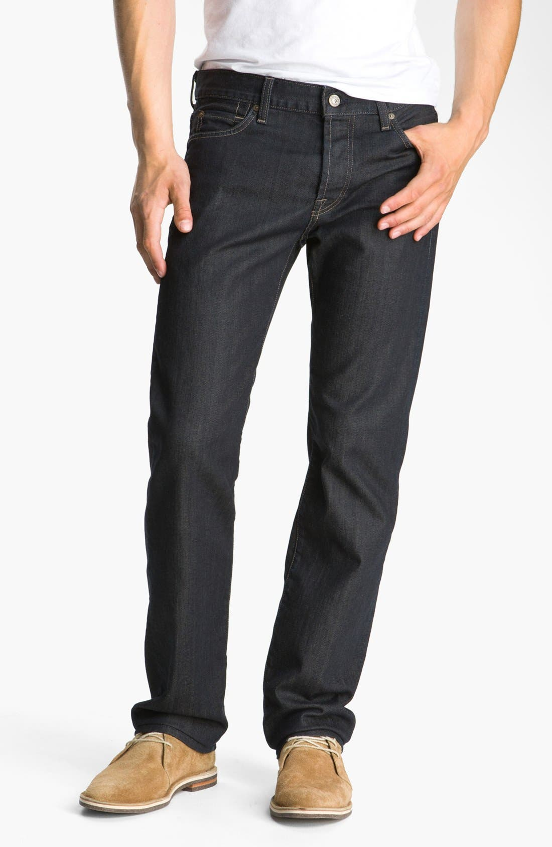 Main Image - 7 For All Mankind® 'Standard' Straight Leg Jeans (Chester Row)