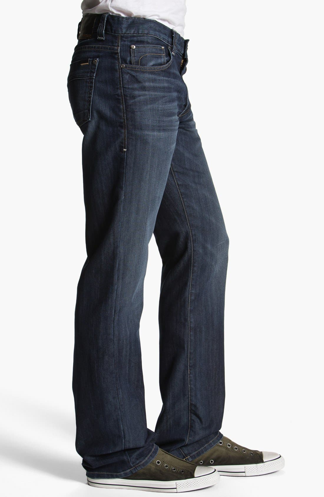 Alternate Image 3  - Fidelity Denim '5011' Straight Leg Jeans (Petrol Blue)