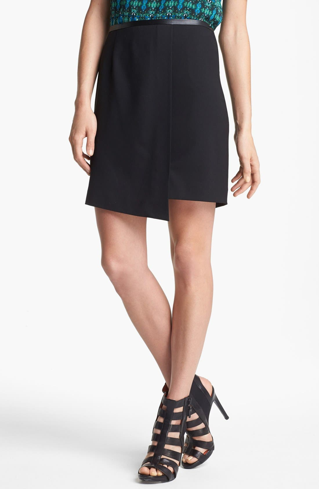 Alternate Image 3  - Vince Camuto Faux Leather Trim Envelope Skirt