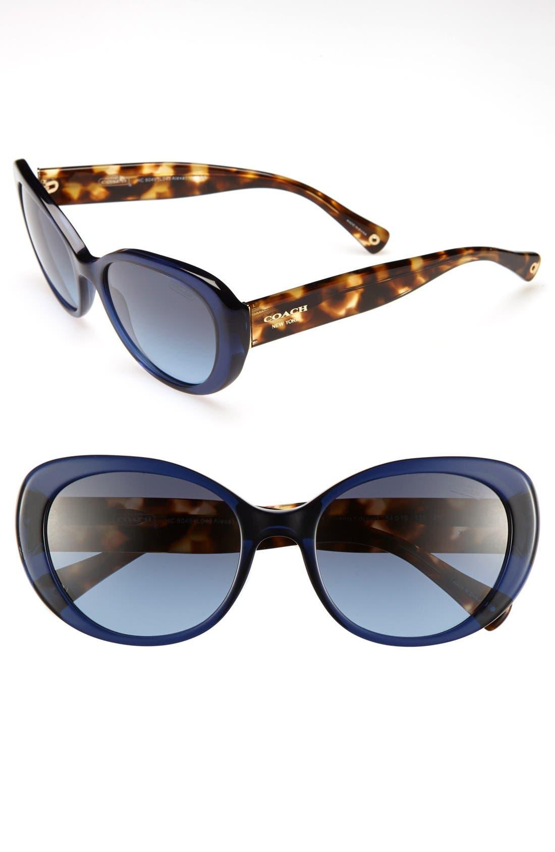 Alternate Image 1 Selected - COACH 'Alexa' 54mm Sunglasses