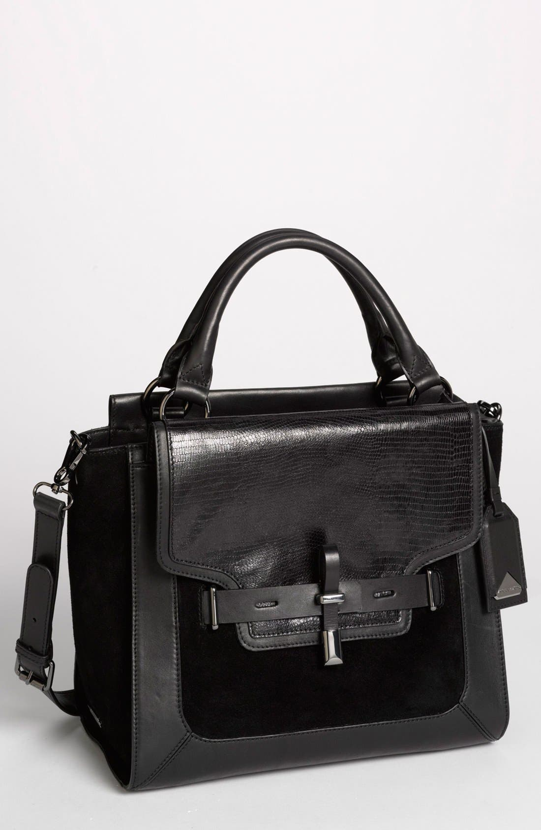 Alternate Image 1 Selected - Vince Camuto 'Max' Leather & Suede Satchel, Medium
