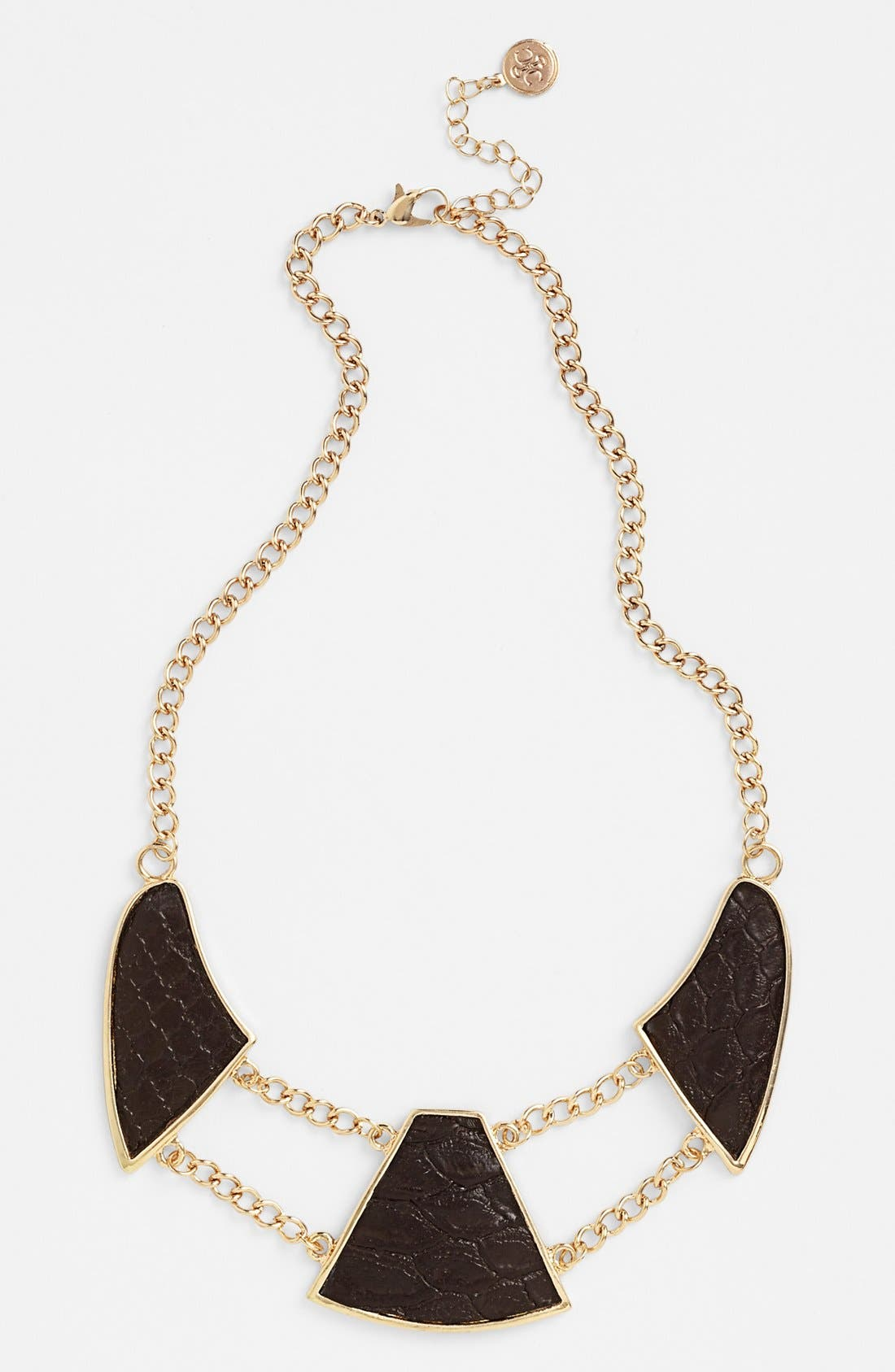 Main Image - Carbon Copy Alligator Embossed Collar Necklace