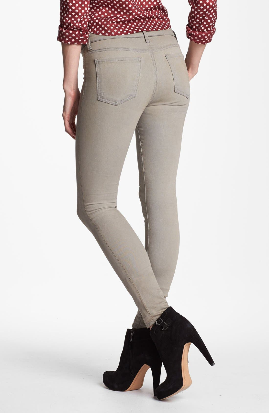 Alternate Image 3  - KUT from the Kloth 'Jennifer' Skinny Jeans (Taupe Grey)
