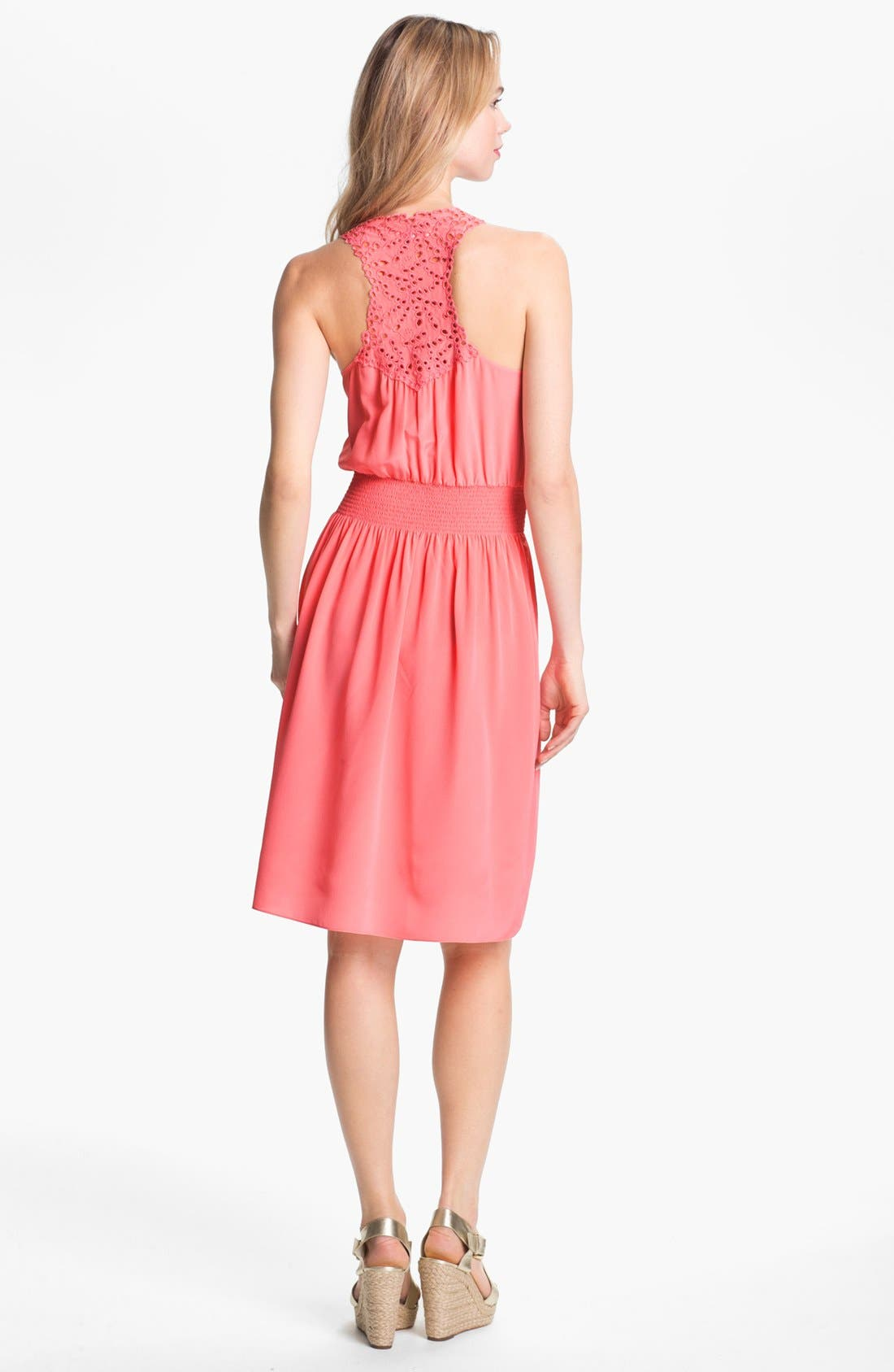 Alternate Image 2  - Rebecca Taylor Silk Blouson Dress