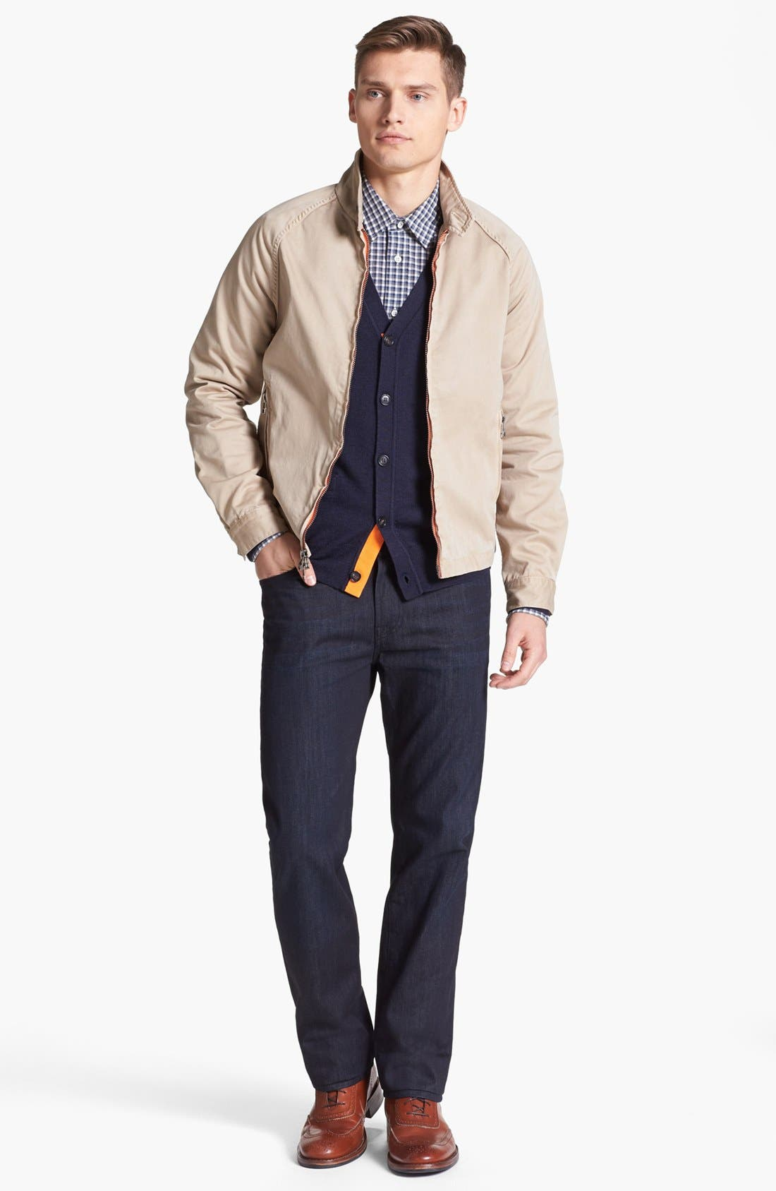 Alternate Image 4  - Jack Spade 'Brockman' Merino Wool Cardigan
