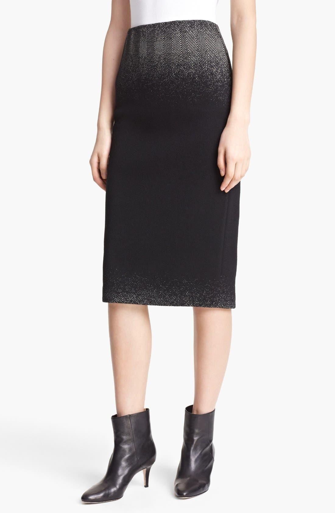 Main Image - Lida Baday Ombré Jacquard Pencil Skirt