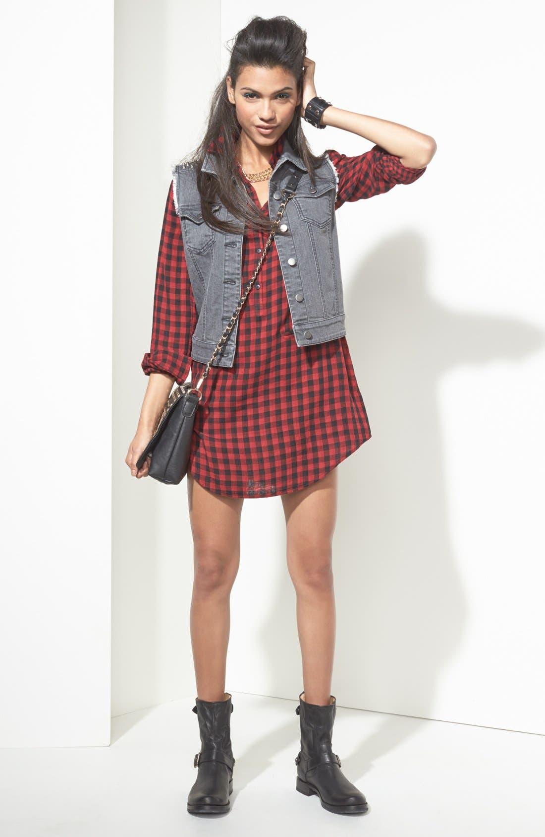 Alternate Image 4  - BP. Studded Denim Vest (Juniors)