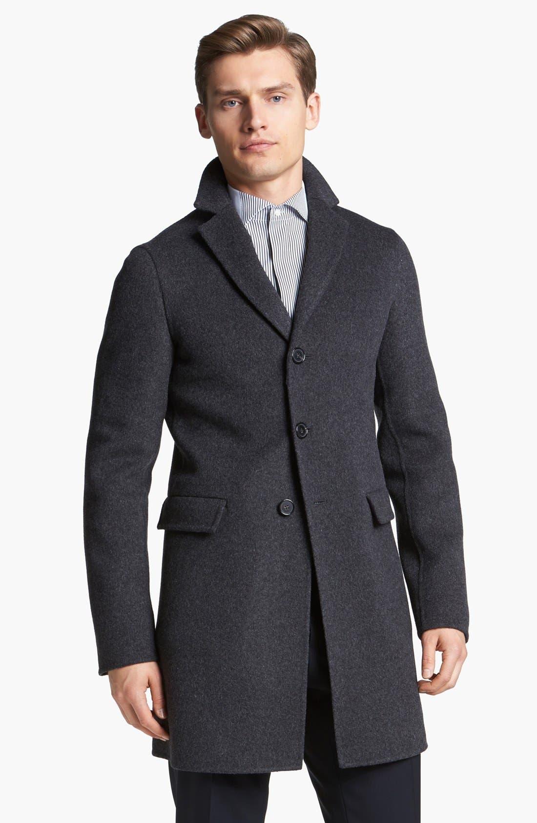 Main Image - Jil Sander Three Button Wool Overcoat